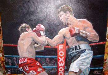 Boxing Image 2, 2013, Oil on canvas - David Martine