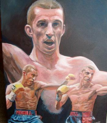 Boxing Image 1, 2013, Oil on canvas - David Martine