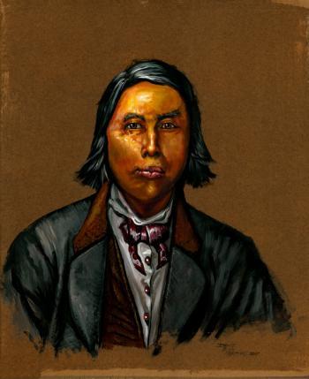 David Pharaoh - Montauk Leader, Ca. 19th Century - David Martine