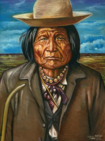 Nana - Great Warrior - 1800-1896 Chiricahua Apache - David Martine