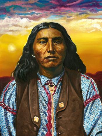Noche, thought for years to be image of Taza, son of Cochise, Chiricahua Apache leader - David Martine