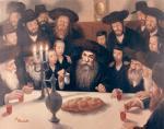 Tish with Belzer Rebbe ( R' Ahron) #3382  (Carl Braude) - Rabbis