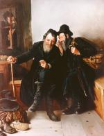 Old Friends  #6957  (Stephan Zanger after Isidor Kaufman) - Simcha/ Happiness