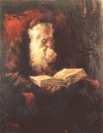 Old Man Learning #7518  (Theodor Tolby) - Torah Learning