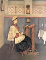 The Praying Woman  #7547  (Isidor Kaufman) - Jewish Life