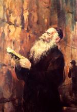 Prayer by the Kotel  #8163  (Theodor Tolby) - Jerusalem