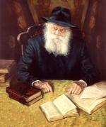 Lubavitch Rebbe in Study Room #9131  (Stephan Zanger) - Rabbis
