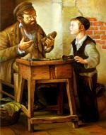 Shoe Maker 2. #BD1033. (Boris Dubrov) - Jewish Life