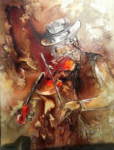 Violinist (Rozenvain) - Abstract/ Modern Art