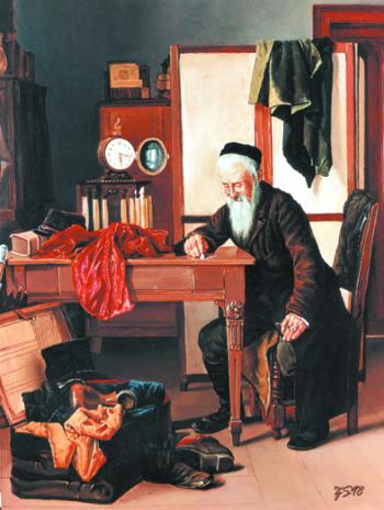 Back Home  #6955  (Stephan zanger after Isidor Kaufman) - Jewish Life