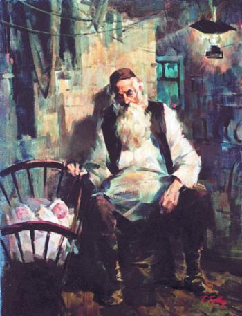 Zaide Babysitting #7505  (Theodor Tolby) - Jewish Life