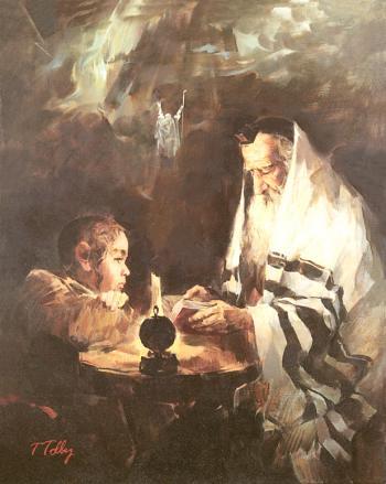 The Scholar's Dream   #7531  (Theodor Tolby) - Torah Learning