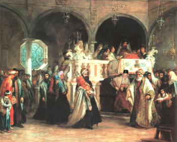 Synagogue in Spain #7558  (Benjamin Hart) - Shabbos and Holidays