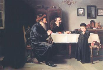 Proud of the Young  #8159  (Stephan Zanger after Isidor Kaufman) - Torah Learning