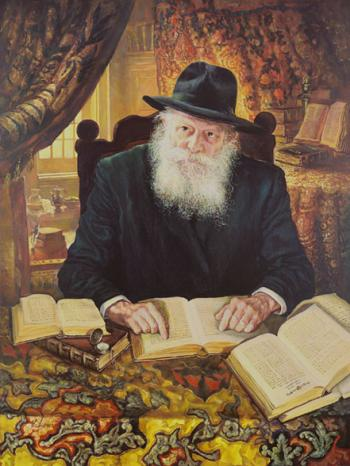 Lubavitch Rebbe in Study Room2 #9153  (Stephan Zanger) - Rabbis