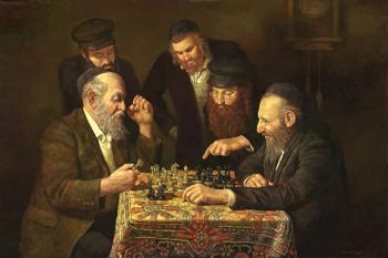 The Chess Game 2 #BD1028  (Boris Dubrov) - Jewish Life