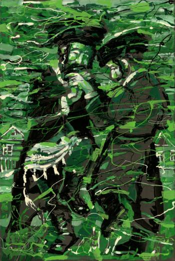 Green Dance #BD1023  (Boris Dubrov) - Abstract/ Modern Art