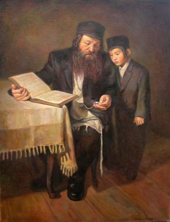 Telling Time #BD1062   (Boris Dubrov) - Jewish Life