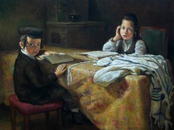 The Boy`s Time #BD1000 (Boris Dubrov) - Jewish Life