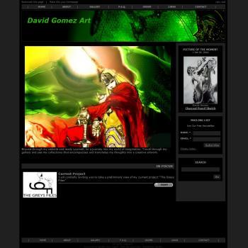 Premium Solo Artist Website (David) - Websites for Artists, Photographers, Galleries