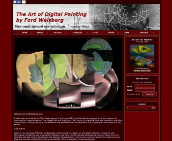 Premium Solo Artist Website (Ford) - Websites for Artists, Photographers, Galleries