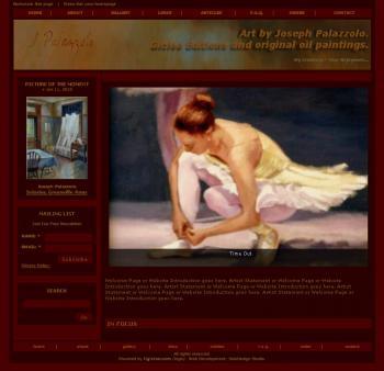Premium Solo Artist's Website (Joseph) - Websites for Artists, Photographers, Galleries