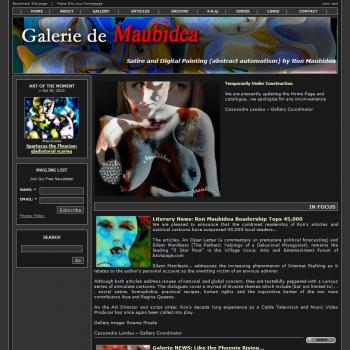 Premium Solo Artist's Website (Maubedia) - Websites for Artists, Photographers, Galleries