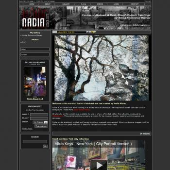 Premium Solo Artist's Website (Nadia) - Websites for Artists, Photographers, Galleries