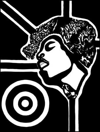 Jimi Hendrix Blk & White