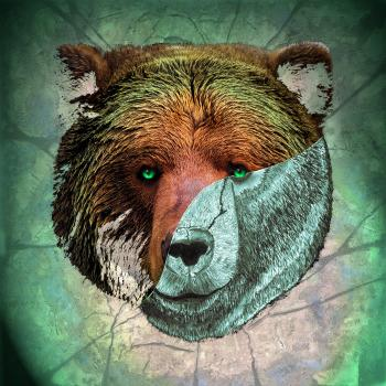 Portrait of a Brown Bear-color 4