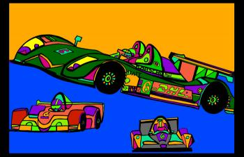 Indi Race Car (car 3 - color 3) - Fred Kelly