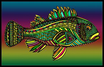 Black Bass (Fish10- Color 1) - Fred Kelly