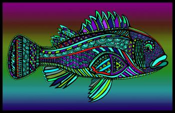Black Bass (Fish10- Color 2)