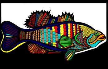 Large Mouth Bass (Fish 1 - color 4)