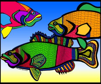 Triple Bass (Fish 4 - color 2) - Fred Kelly