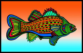 Porgy (Fish 6 color 2) - Fred Kelly