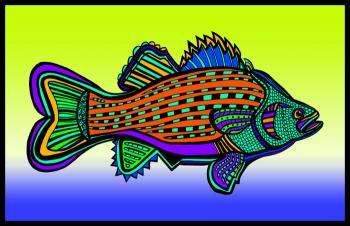 Porgy (Fish 6 color 3) - Fred Kelly