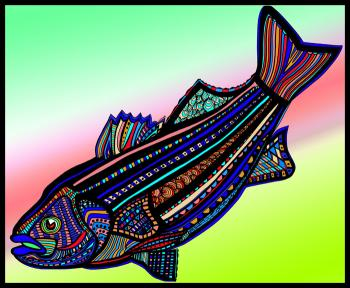 Striped Bass (Fish9-color 3)