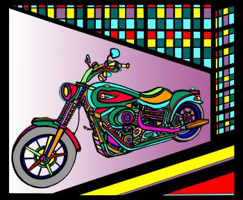 Motorcycle 1- Color 1 - Fred Kelly