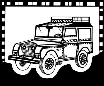 Safari Truck 2 Blk & White - Fred Kelly