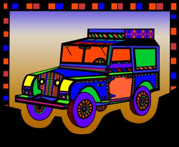 Safari Truck 2- Color 2 - Fred Kelly