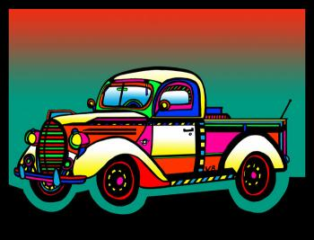 Vintage Truck - color 1 - Fred Kelly