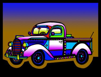 Vintage Truck - color 3 - Fred Kelly