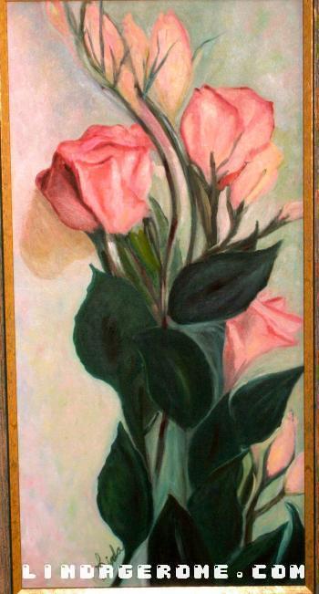 Pink Roses - Linda Gerome