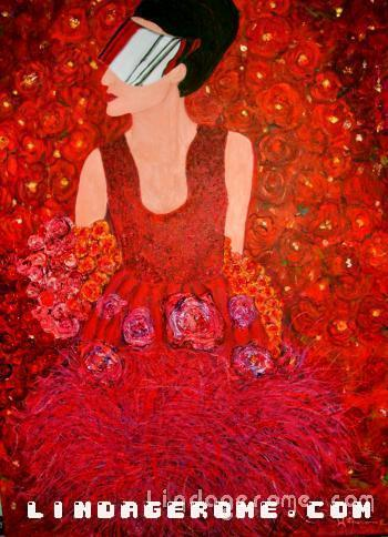 Lady In Red - Linda Gerome