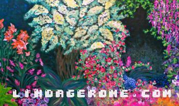 Backyard Scene - Linda Gerome