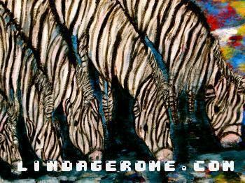 Zebras - Linda Gerome