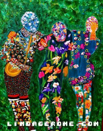 The Floral Three - Linda Gerome