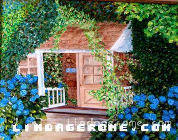 Hydrangea in Blue - Linda Gerome