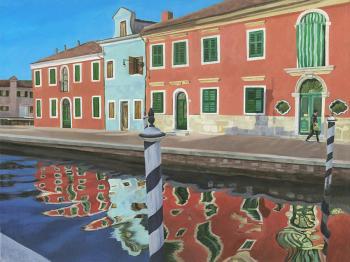 Afternoon Shadows in Burano - Lisa Rego